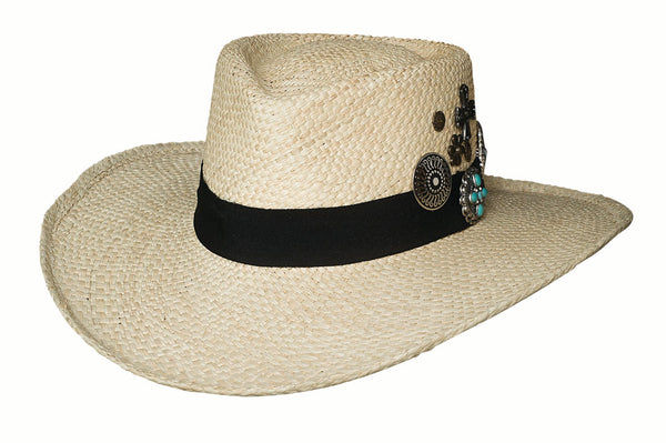 Bullhide Hats Panama Straw Wild As You Are #5002965
