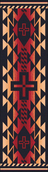 American Dakota Rustic Cross Burnt Red Rectangle