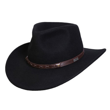 Conner Handmade Hats Cowboy Western Style Crossroads Black