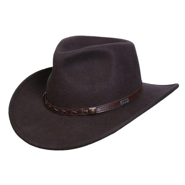 Conner Handmade Hats Cowboy Western Style Crossroads Brown