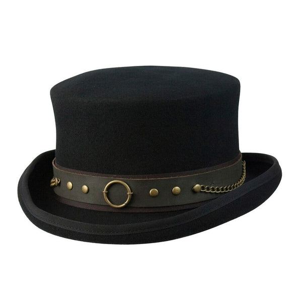 Conner Handmade Hats Victorian and Steampunk Jubilee Top Hat Black