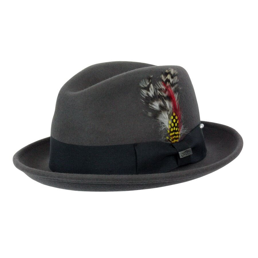 Conner Handmade Hats Fedora Grey #121072C