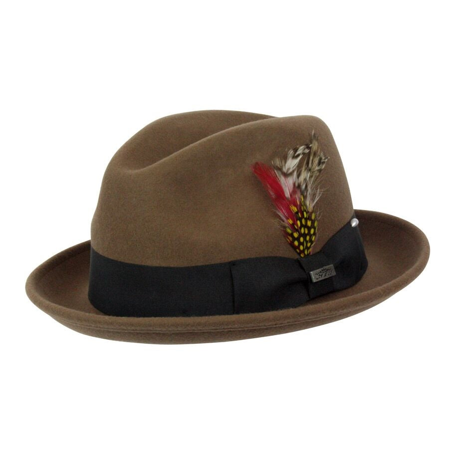 Conner Handmade Hats Fedora Tan #121072B