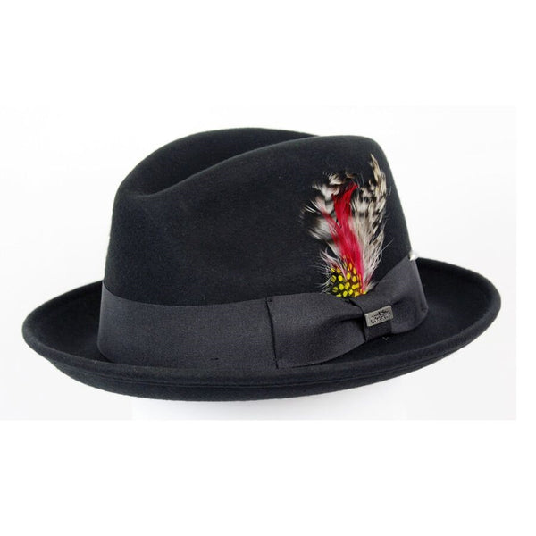 Conner Handmade Hats Fedora Black #121072A