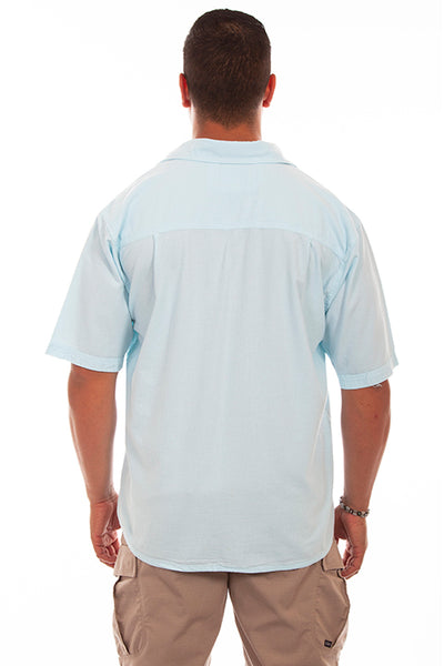 Farthest Point Collection Short Sleeve Calypso Aqua Sky Front