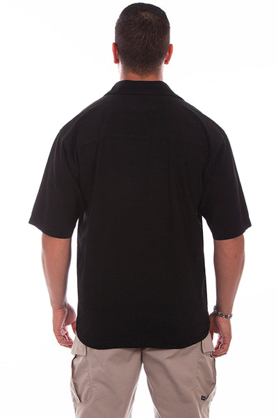 Farthest Point Collection Short Sleeve Calypso Black Tan Front