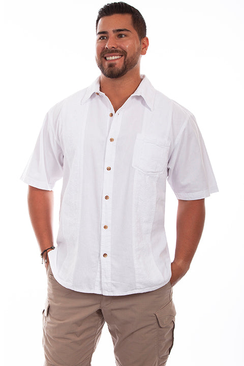Farthest Point Collection Short Sleeve Calypso White Front