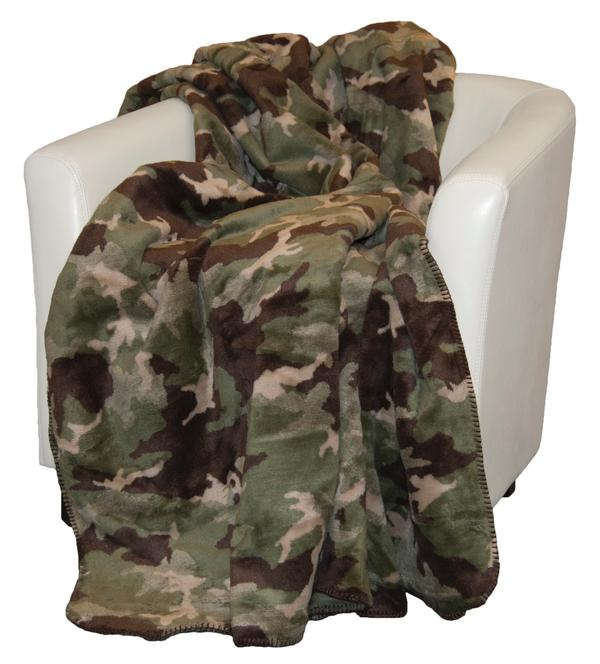 Denali Blankets Sage Camouflage Throw Blanket on Chair