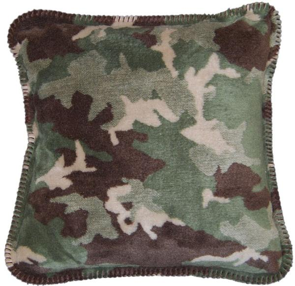 Denali Blankets Sage Camouflage Pillow