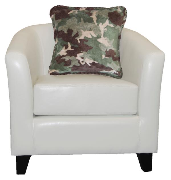 Denali Blankets Sage Camouflage Pillow on Chair