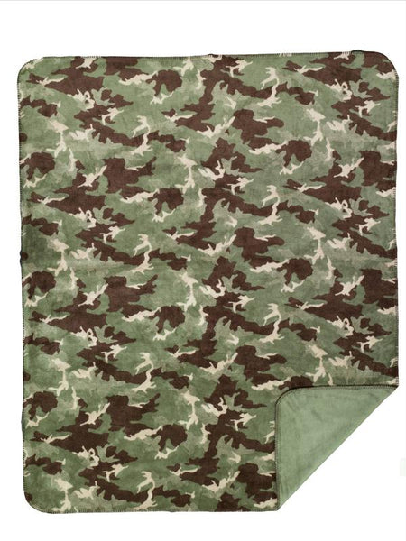Denali Blankets Dark Camouflage Throw Blanket Front