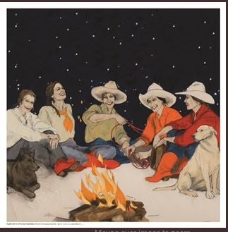 Rockmount Ranch Wear Silk Scarf Donna Howell-Sickles Campfire Girls