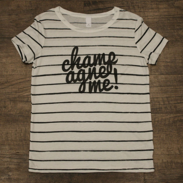Original Cowgirl Clothing Ladies' T-Shirt Champagne Me! Stripe