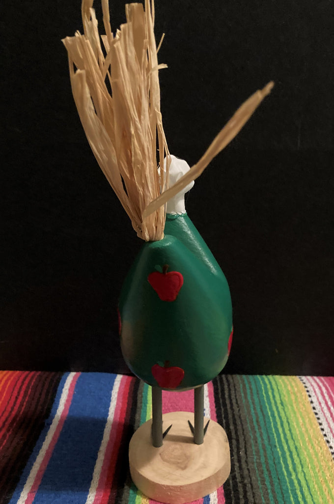 Navajo Folk Art Chef Chicken Small Green Back