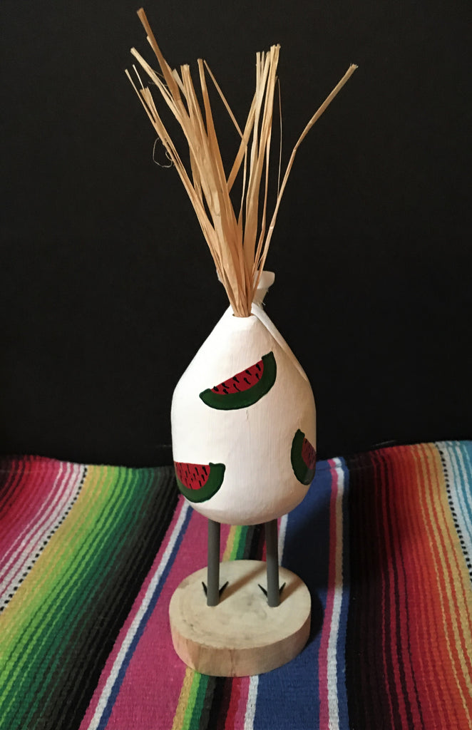 Navajo Folk Art Chef Chicken Small White Back #9886