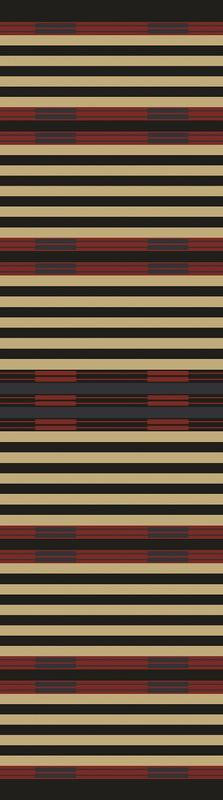 American Dakota Rug Chief Stripe Rectangle 2x8 Runner