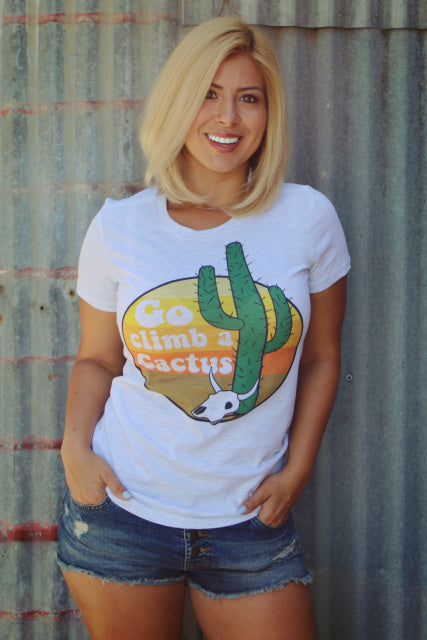 Original Cowgirl Clothing T-Shirt Go Climb A Cactus Jr. Sizes