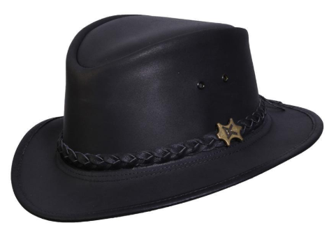 Conner Handmade Hats BC Leather Fedora The Streetwise Black