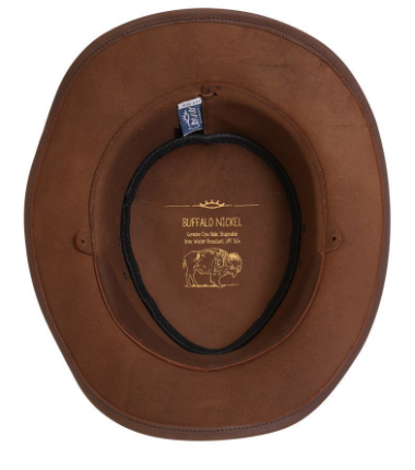 Conner Handmade Hats Buffalo Nickel Leather Hat Interior Detail