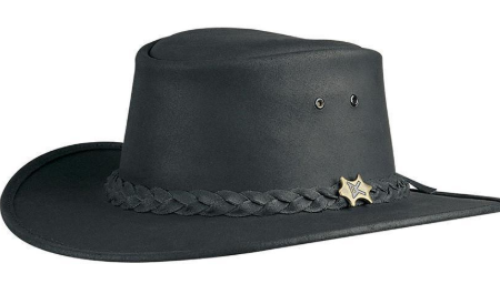 2d7cfebe11d Conner Handmade Hat BC Bush Walker Oily Black Conner Handmade Hat BC Bush  Walker Oily Black. Cowboy Western Style Oily Leather  Outback Safari ...