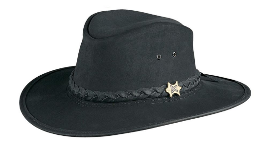 Conner Handmade Hats Shapeable Brim Australian Leather Black