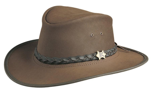Conner Handmade Hats Shapeable Brim Australian Leather Brown