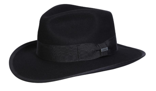 Conner Handmade Hats Fedora Indy Brown Wool Front