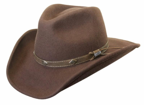 Conner Handmade Hats Corral Cowboy Style Brown