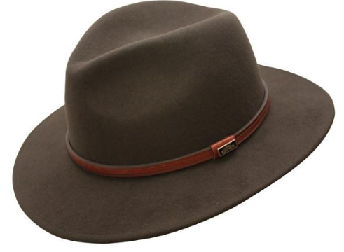 Conner Handmade Hats Fedora Jackeroo Wool Brown