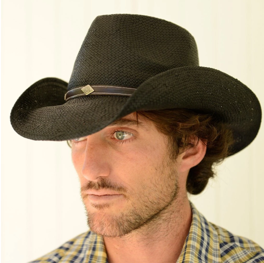 Conner Handmade Hats Cowboy Toyo Straw Country Style on Model