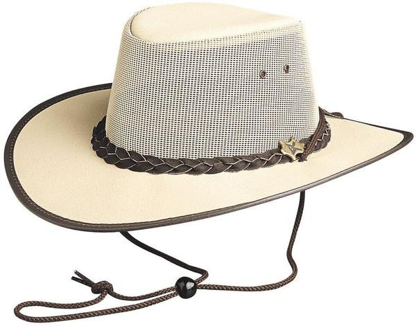 Conner Handmade Hats: Cool As A Breeze Beige Chocolate Western Style