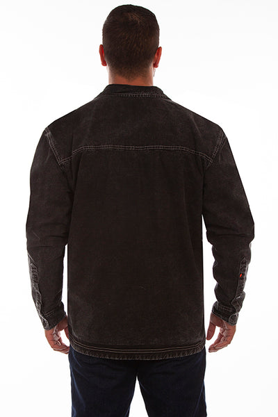 Men's Farthest Point Coronado Jacket Distressed Black Front #5222