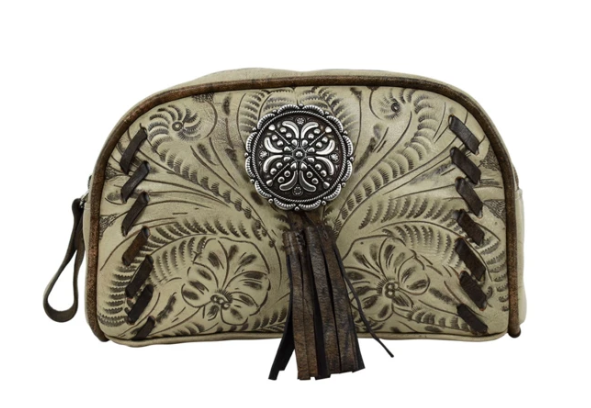American West Lariats & Lace Collection Cosmetic Case Sand