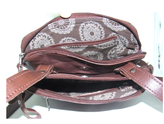 American West Lariats & Lace Collection Crossbody Multi Compartment Bag Interior