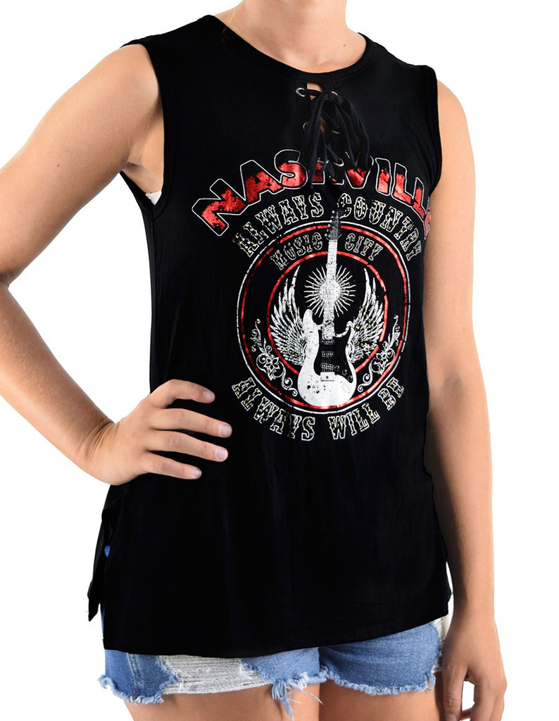 Ladies' Liberty Wear Sleeveless Top Nashville Always Country Top