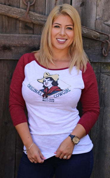 Original Cowgirl Clothing Baseball T-Shirt Original Vintage Cowgirl