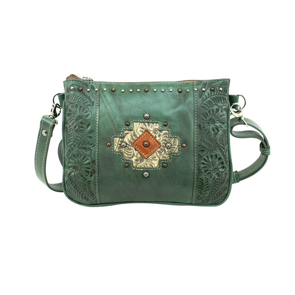 American West Navajo Soul Crossbody Bag Turquoise #3478789