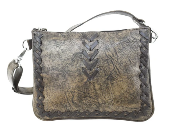 American West Wood River Collection Crossbody Multi-Compartment Sand