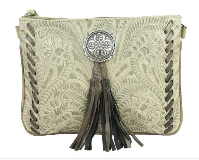 American West Lariats & Lace Collection Crossbody Multi Compartment Bag Sand