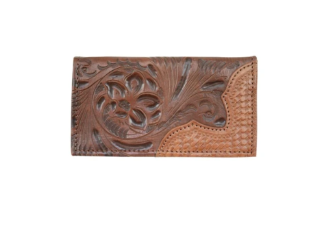 American West Men's Wallet Rodeo Style Dark Brown