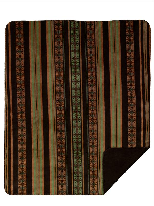 Denali Blankets Dark Chocolate Stripe 60x72