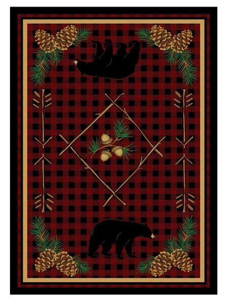 American Dakota Rug Deep Woods