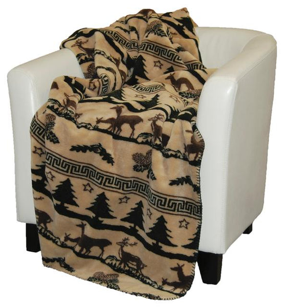 Denali Blankets Deer Haven Throw Blanket Front
