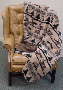 Denali Blankets Deer Haven Throw Blanket on Chair