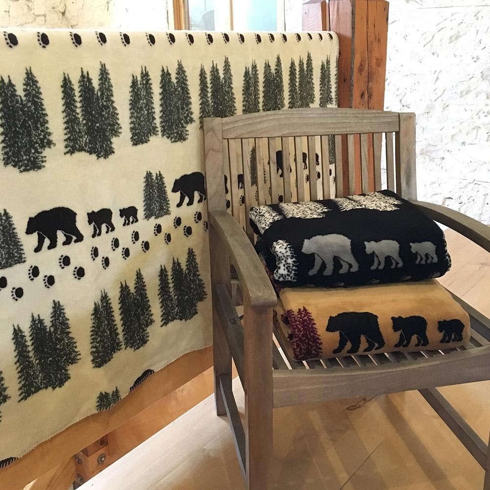 Denali Bear Throw Blankets