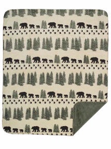 Denali Blankets Denali Bear Pearl Throw Blanket Front