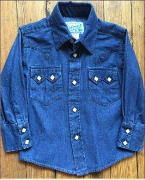 Rockmount Ranch Wear Childrens Western Shirt Classic Denim Front
