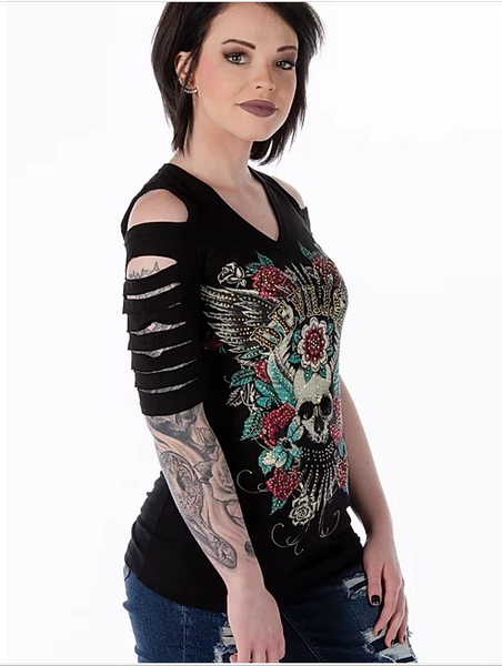 Liberty Wear Devilish Cuts Top Front #117223