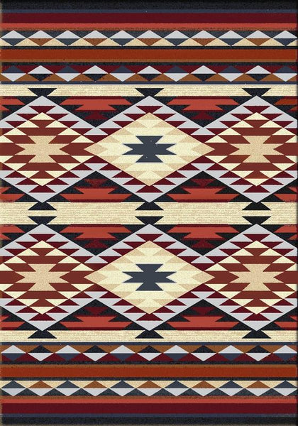 American Dakota Rugs Diamond Rio Rust Rectangle Rugs