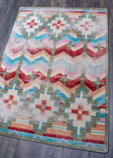 American Dakota Rug Shake Your Shawl Bright Distressed Rectangle